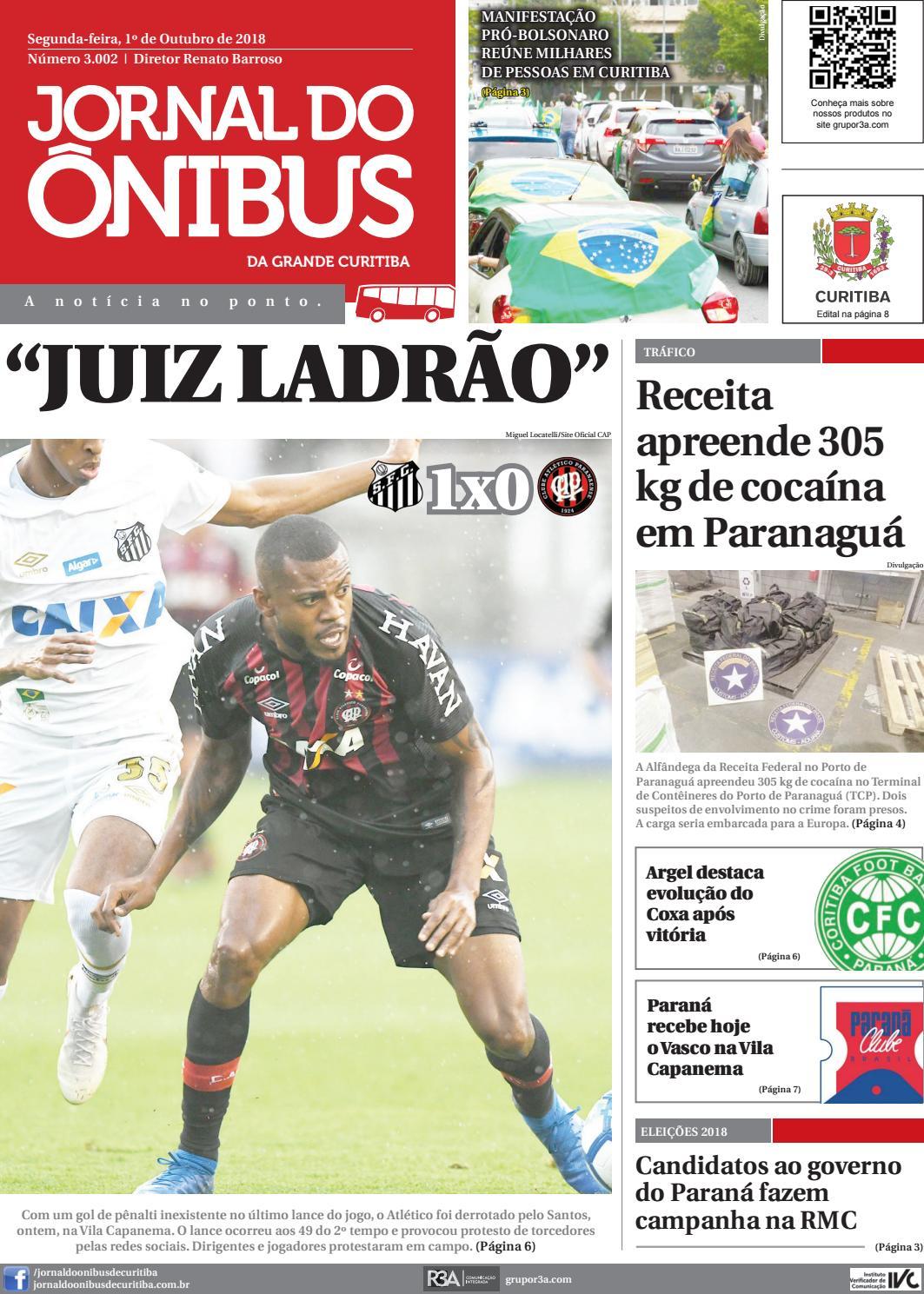 Jornal do Ônibus de Curitiba - 1º 10 18 by Editora Correio Paranaense -  issuu a8885ac0af3ca
