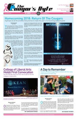 Kean University Academic Calendar.Kean University The Cougar S Byte October 2 2018