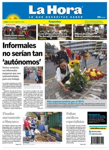 5c84bdb59498 Tungurahua 01 de octubre de 2018 by Diario La Hora Ecuador - issuu