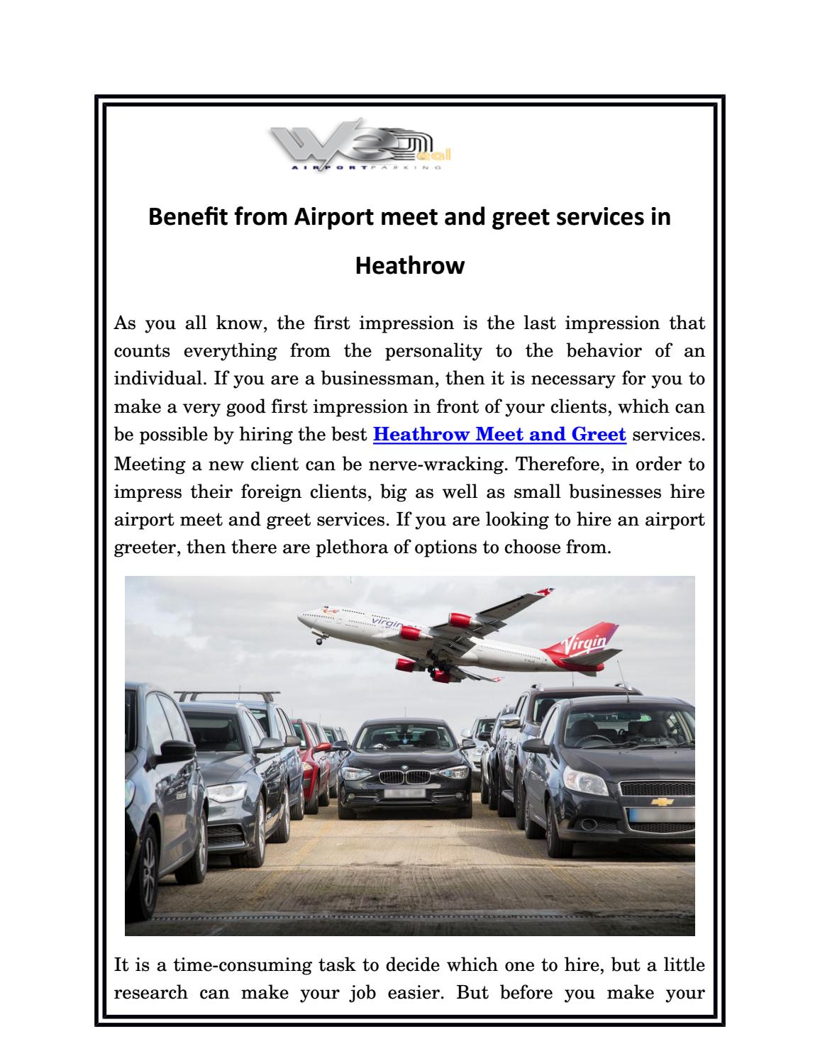 Benefit From Airport Meet And Greet Services In Heathrow By We Deal