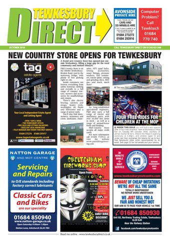 a96e0814ac Tewkesbury Direct Magazine October 2018 by Tewkesbury Direct ...