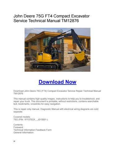 John deere 595 excavator service repair manual by 163294 - issuu