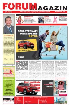 da5b68240f4b FÓRUM magazin 2018 október by Company Info Kft. - issuu