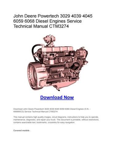 john deere powertech 3029 4039 4045 6059 6068 diesel engines service rh issuu com John Deere 4039 Engine Parts John Deere 4039Df Parts