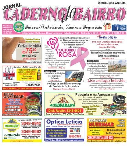 Jornal Caderno do Bairro - Circulação  Xaxim, Pinheirinho e Boqueirão - nº   160 - 2018 db0771ccc2