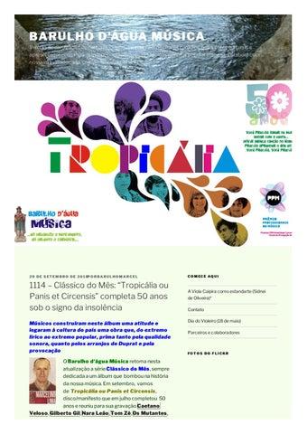"""1114 – Clássico do Mês  """"Tropicália ou Panis et Circensis"""" completa 50 anos  sob o signo da insolênci 2cc23774fa5"""