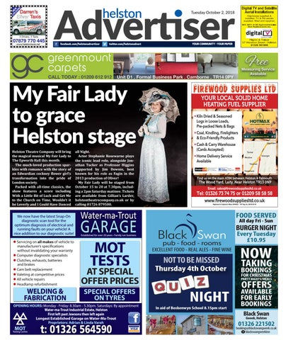 3fdf30fedd64 Helston Advertiser - October 2nd 2018 by Helston Advertiser - issuu