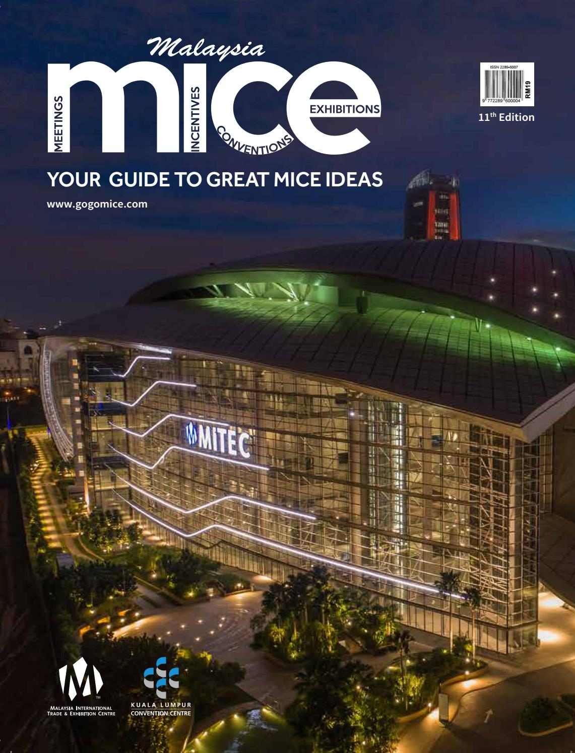 Malaysia Mice 2018 2019 11th Edition By Tourism Publications Corporation Sdn Bhd Issuu
