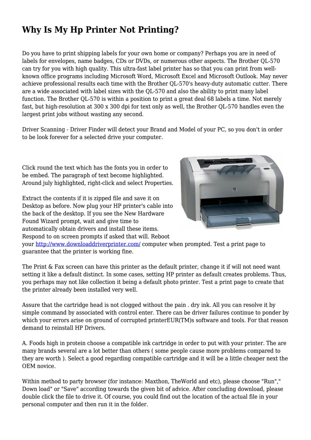 Why Is My Hp Printer Not Printing? by cleangadgetlabs - issuu