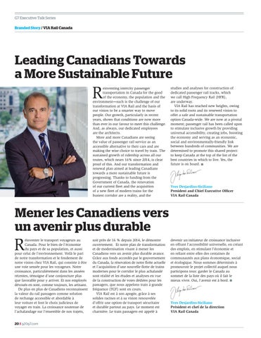 Page 20 of Leading Canadians to a more sustainable future