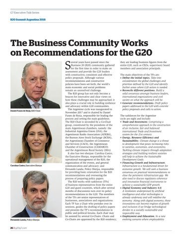 Page 26 of The B20 business summit works for the G20