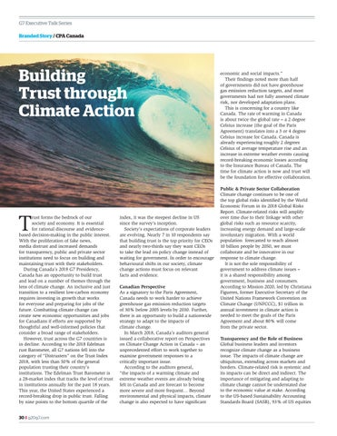 Page 30 of Building trust through climate action