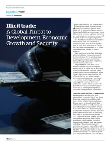 Page 42 of Tracit.org Illicit Trade a global threat to development economic growth and security