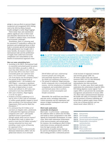 Page 43 of Tracit.org Illicit Trade a global threat to development economic growth and security