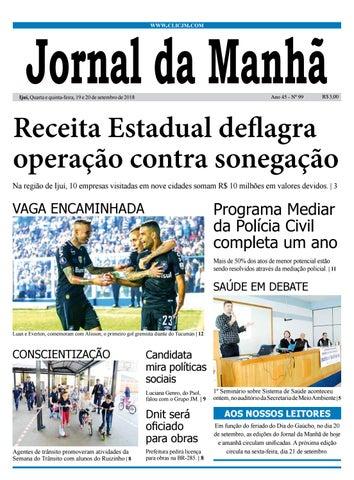 e25fc5ffe Jornal da Manhã - Quarta-feira - 19-09-2018 by clicjm - issuu