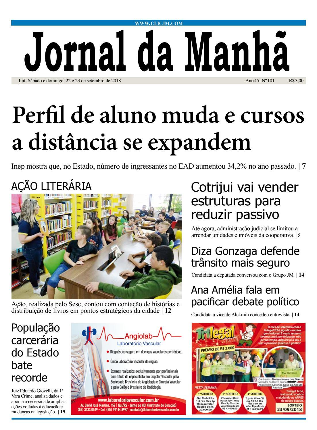 a856eec20d5 Jornal da Manhã - Sábado - 22-09-2018 by clicjm - issuu