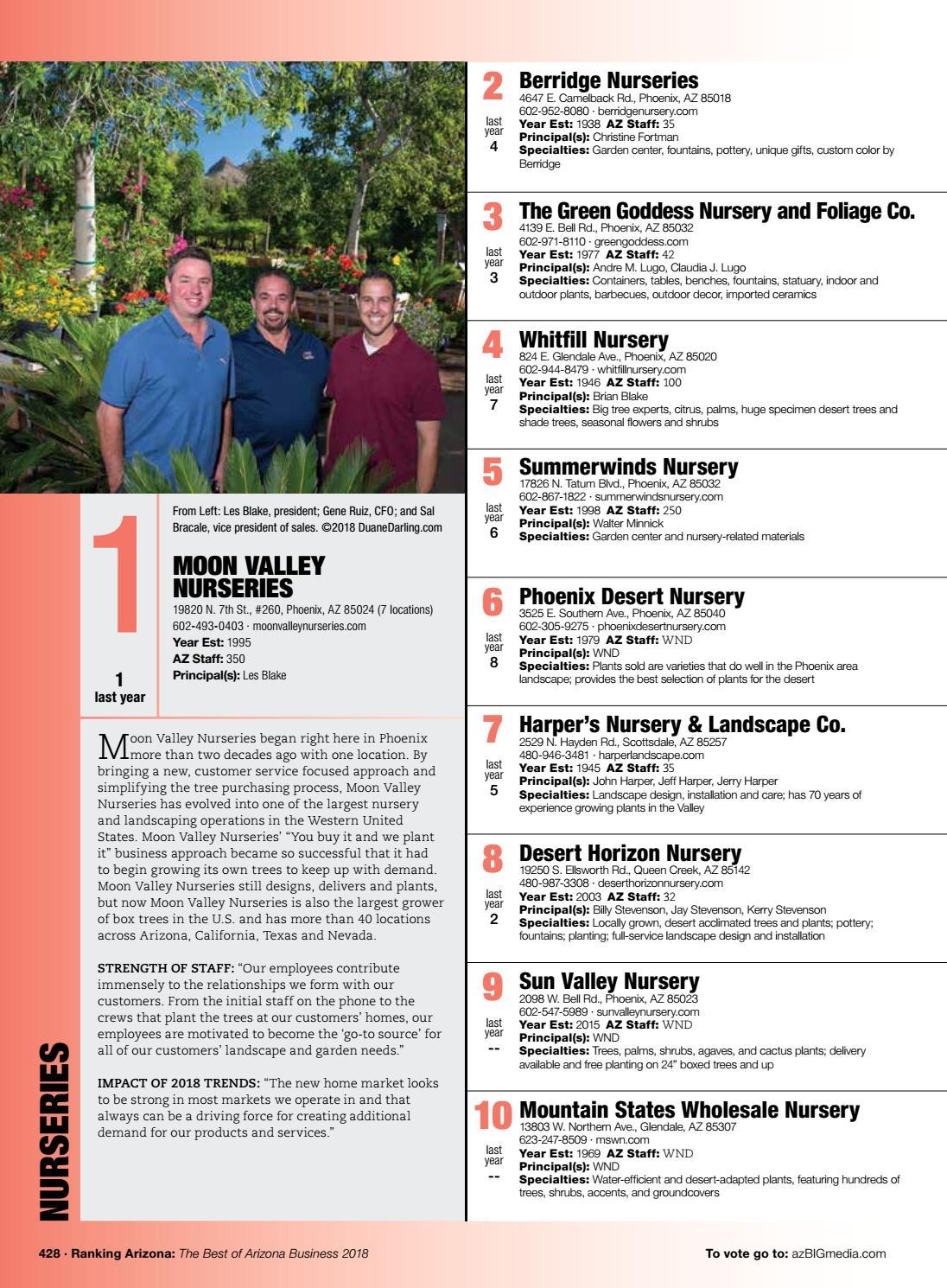 Ranking Arizona 2018 Digital Issue By Az Media Issuu
