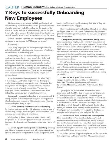 Page 16 of 7 Keys to successfully Onboarding new employees