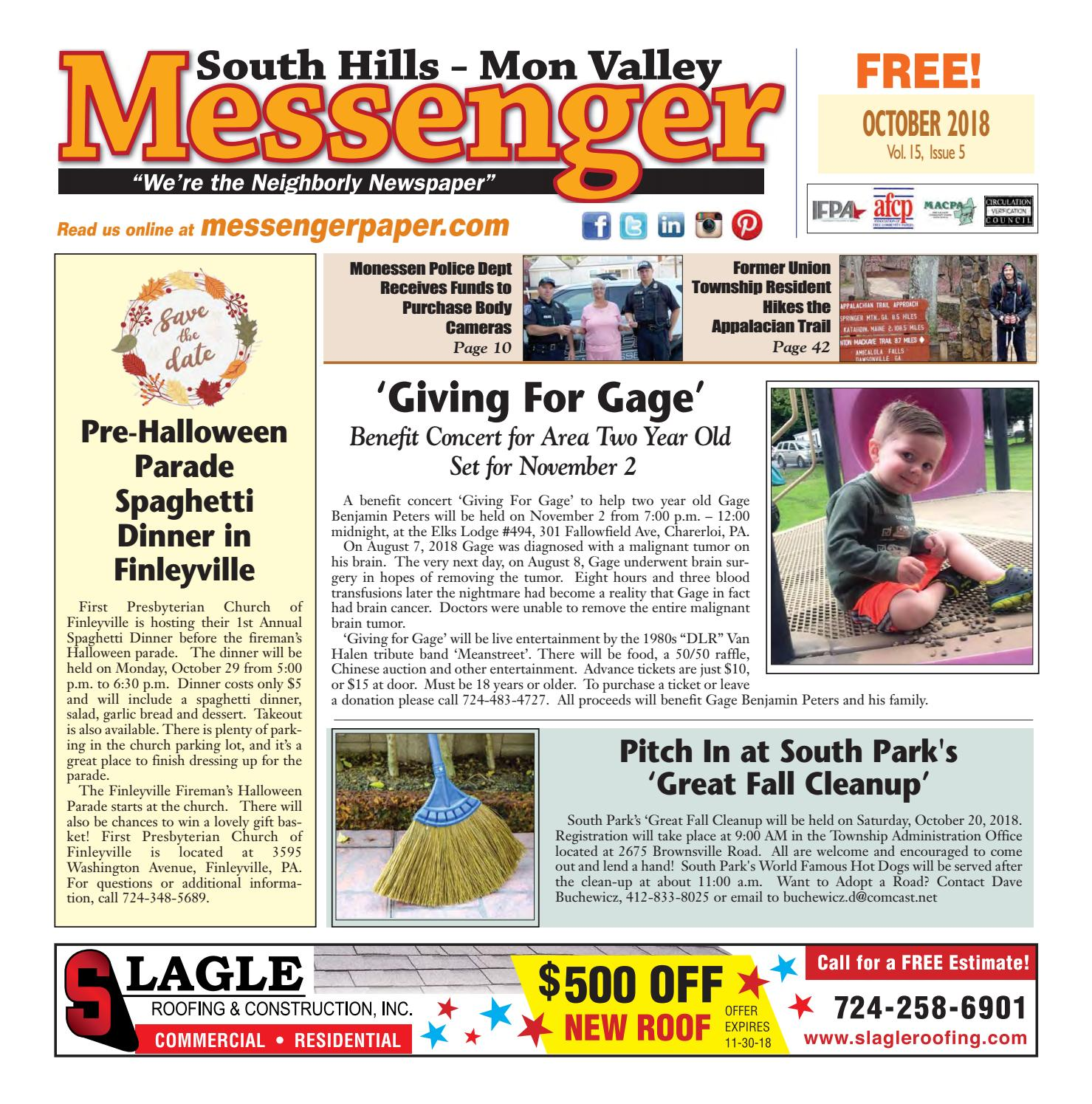South Hills Mon Valley Messenger October 2018 by South Hills