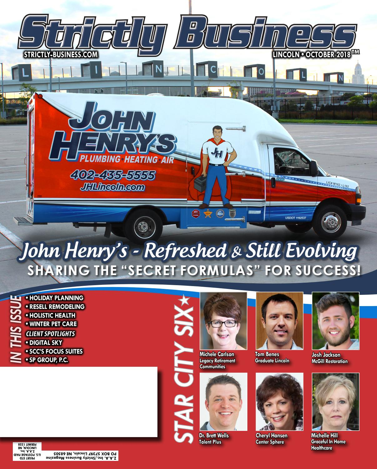 Strictly Business Magazine October 2018 By Well Pump Tripping Circuit Breaker Terry Love Plumbing Remodel Diy Issuu