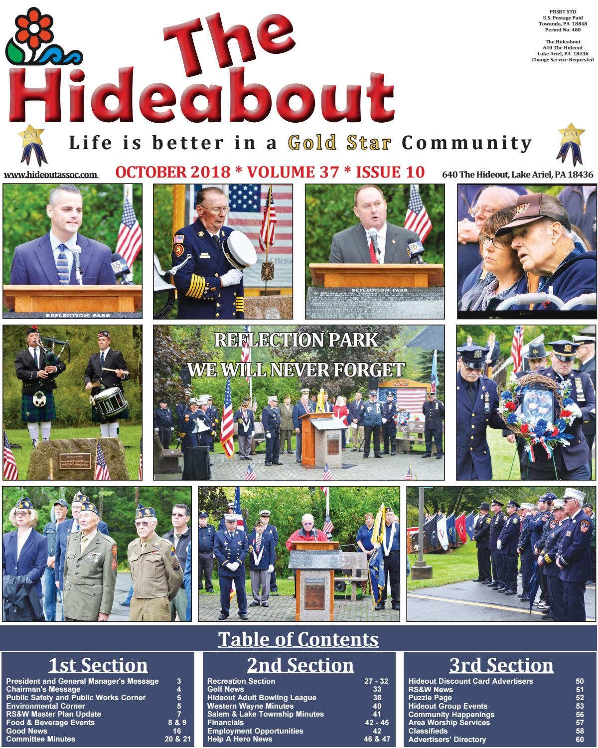 7a63aa9c4d The Hideabout October 2018 by The Hideout - issuu