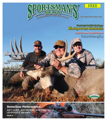 e546987a61902 Sportsman's News October 2018 Digital Edition by Sportsman's News ...
