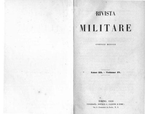 RIVISTA MILITARE 1859 TOMO IV by Biblioteca Militare - issuu df135a06c13a