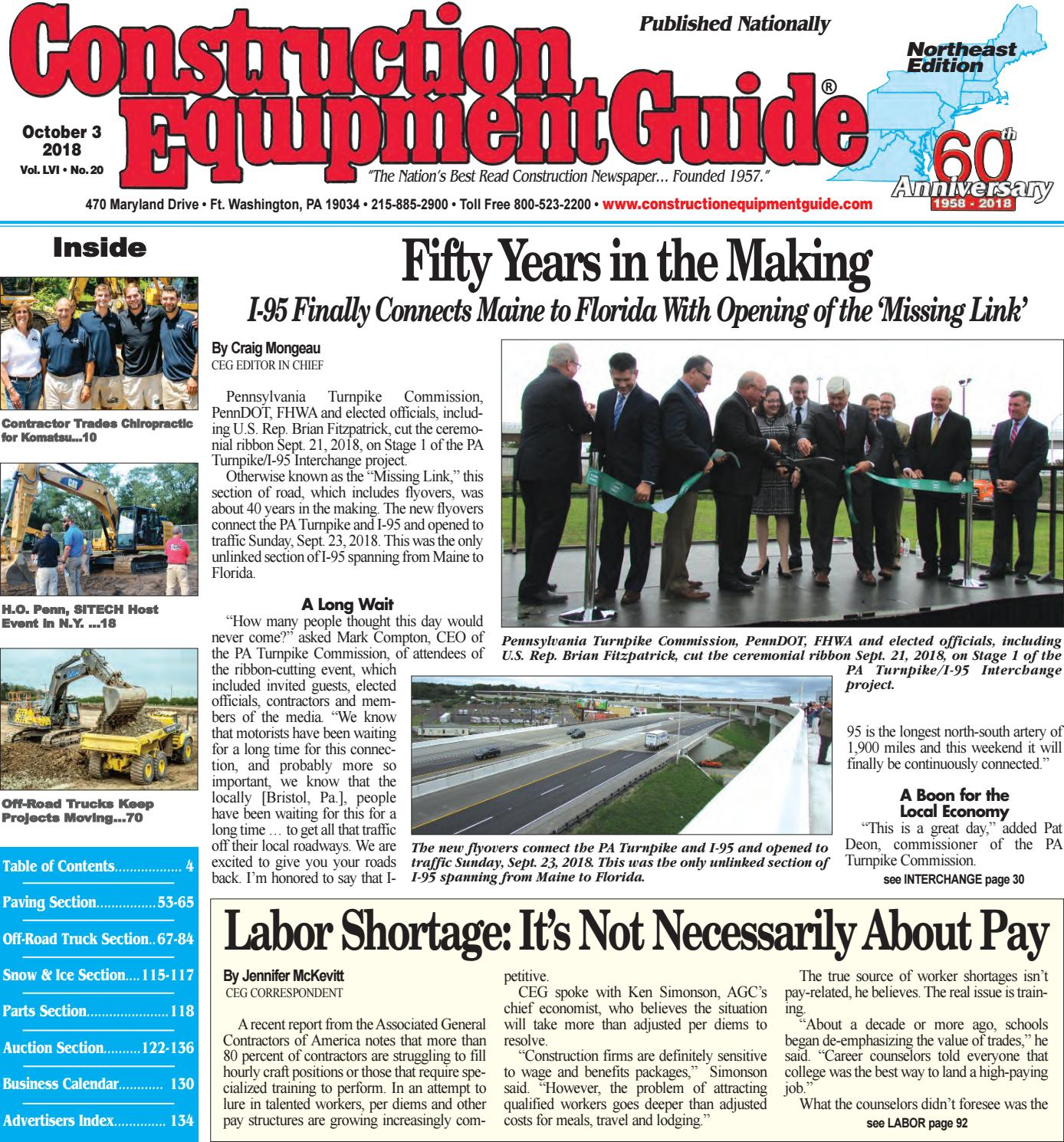 Northeast 20 October 3, 2018 by Construction Equipment Guide - issuu