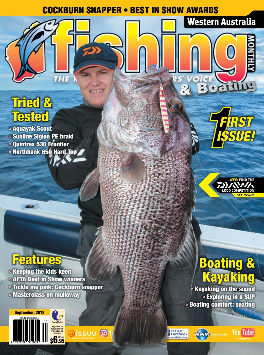 5c9b58790c3 Western Australia Fishing Monthly September 2018 by Fishing Monthly - issuu