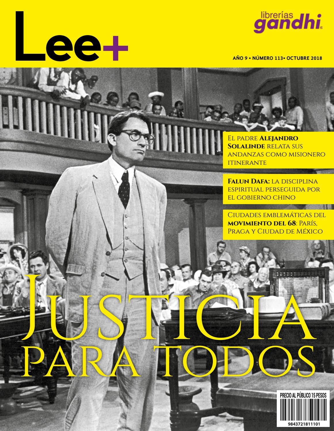567c853288 Lee+ 113 Justicia by Revista Lee+ de Librerías Gandhi - issuu