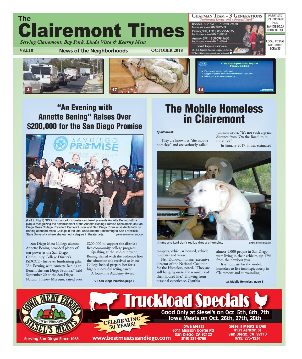 The Clairemont Times October 2018 by Clairemont Times - issuu