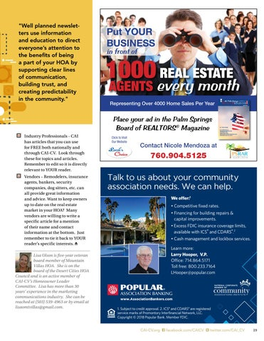 Page 19 of Create Newsletters That Owners Want to Read By Lisa Olson