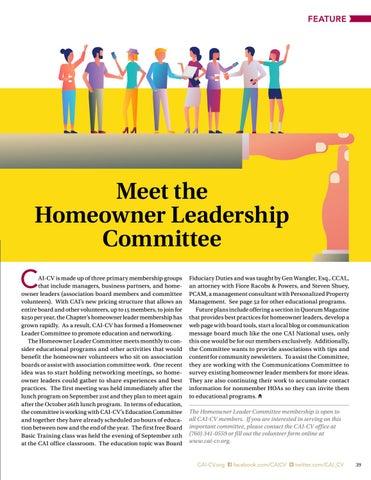 Page 39 of Meet the  Homeowner Leadership Committee