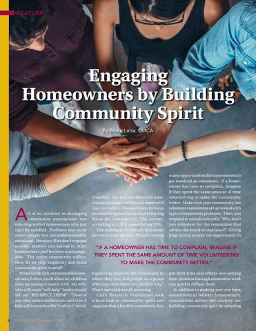 Page 8 of Engaging Homeowners by Building Community Spirit By Bruce Latta, CMCA