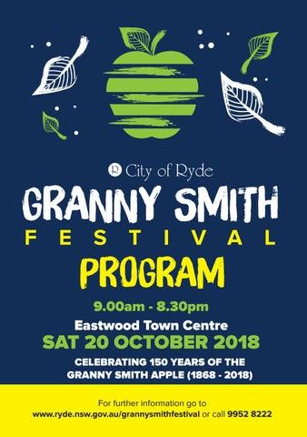 City Of Ryde Granny Smith Festival Program 2018 By