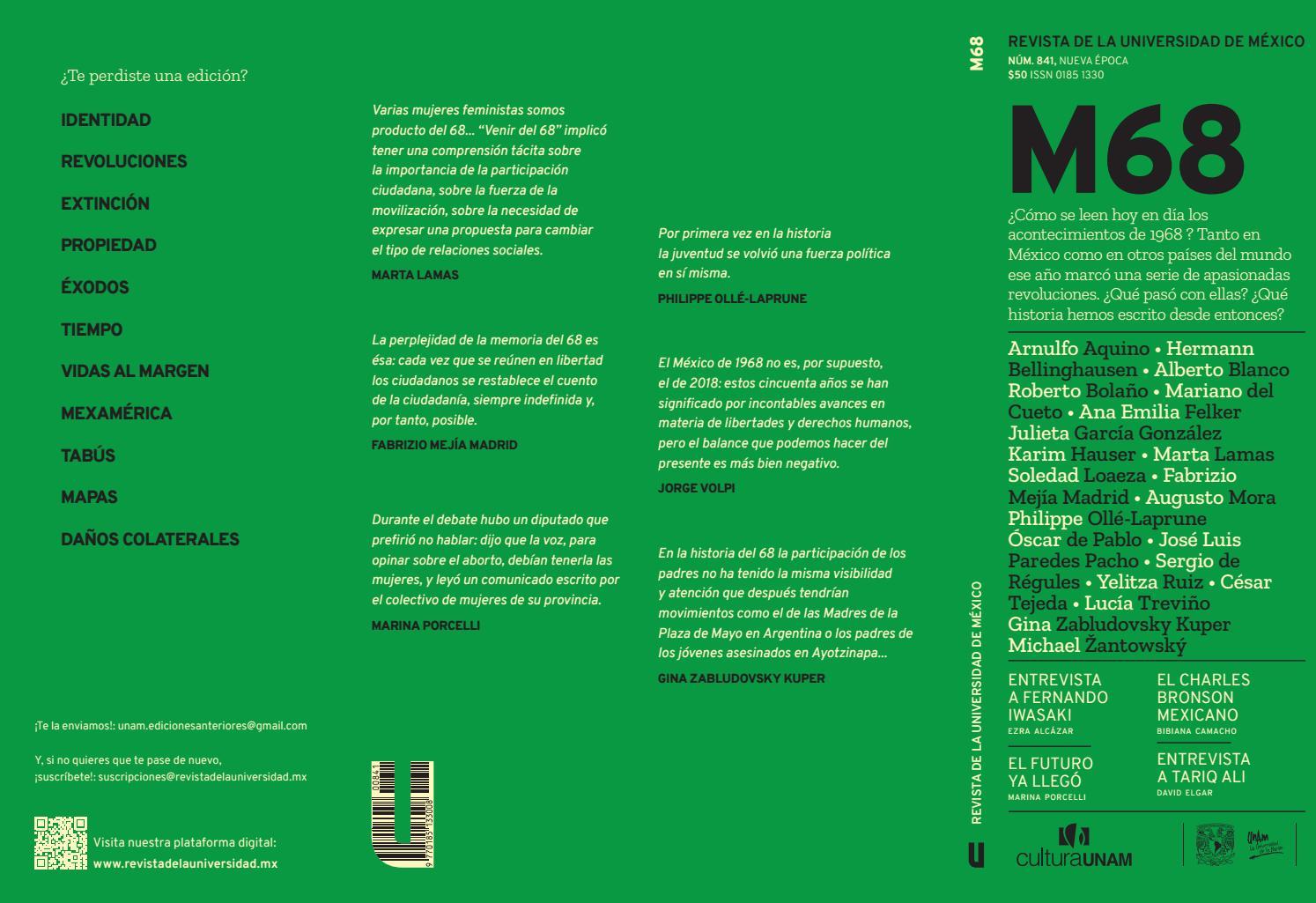 6a04b501 Revista de la Universidad de México. M68. Octubre 2018 by Alejandro Peralta  - issuu