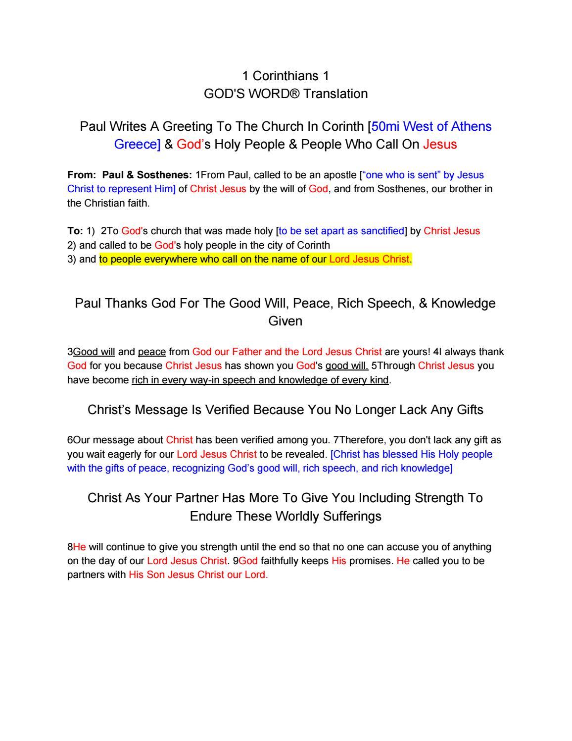 1 corinthians 1 by 2nd corinthians 4th chapter issuu m4hsunfo