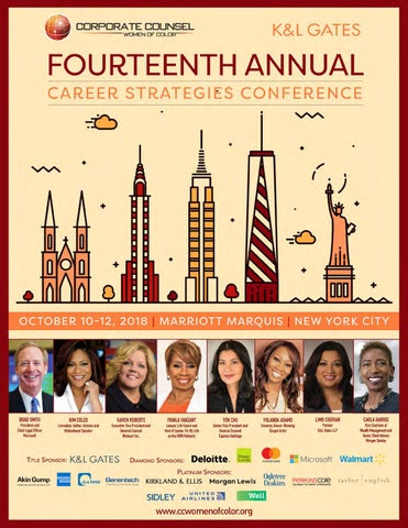 2018 CCWC Conference Magazine by Corporate Counsel Women of