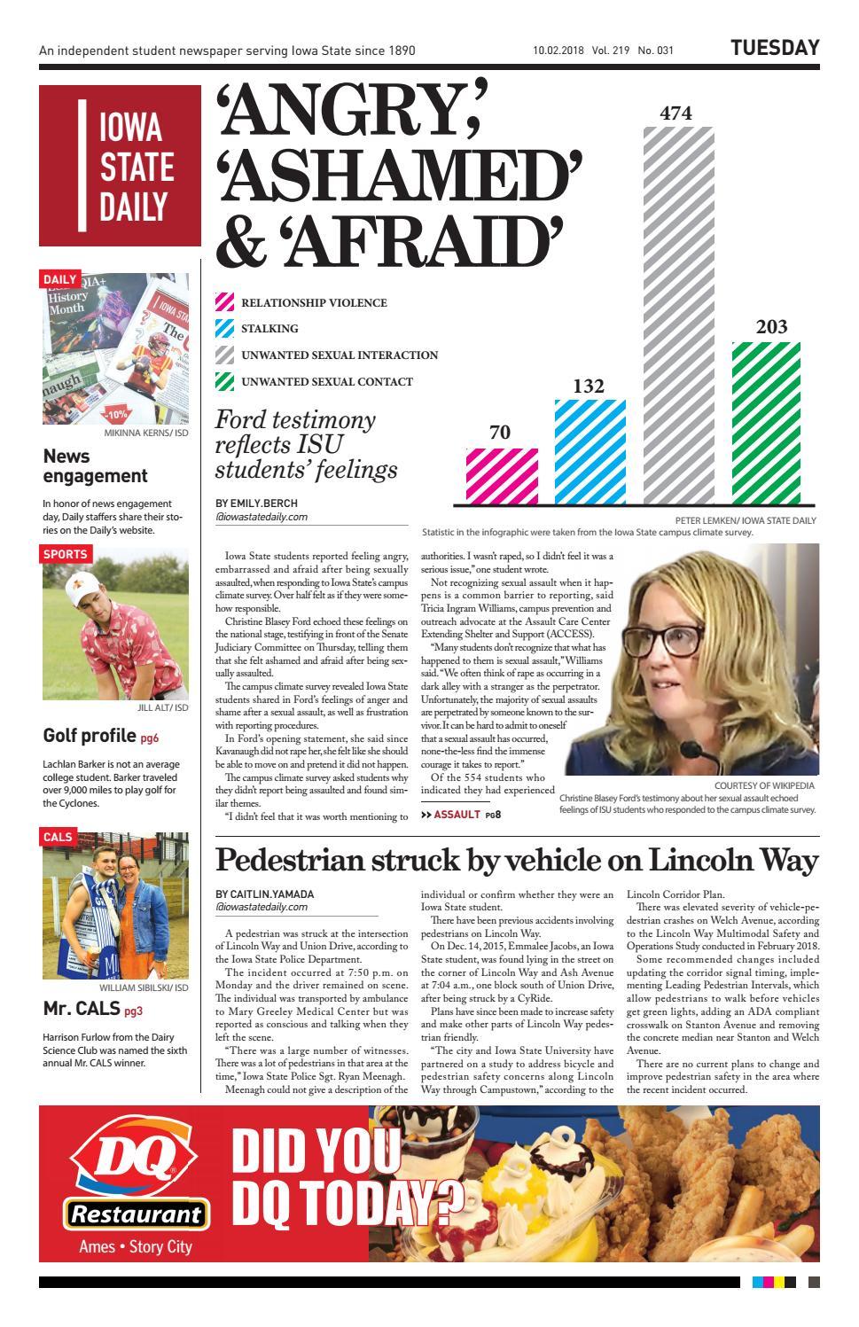 10 02 18 by Iowa State Daily - issuu