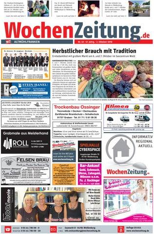 Wochenzeitung Altmühlfranken Kw 4018 By Wochenzeitung