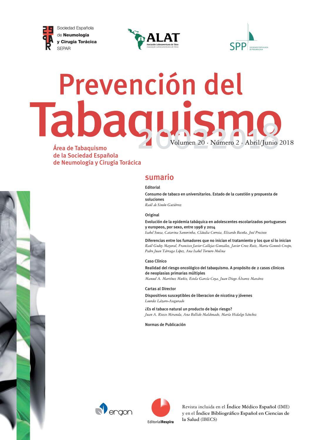 tesis sobre el consumo de cigarrillo en adolescentes