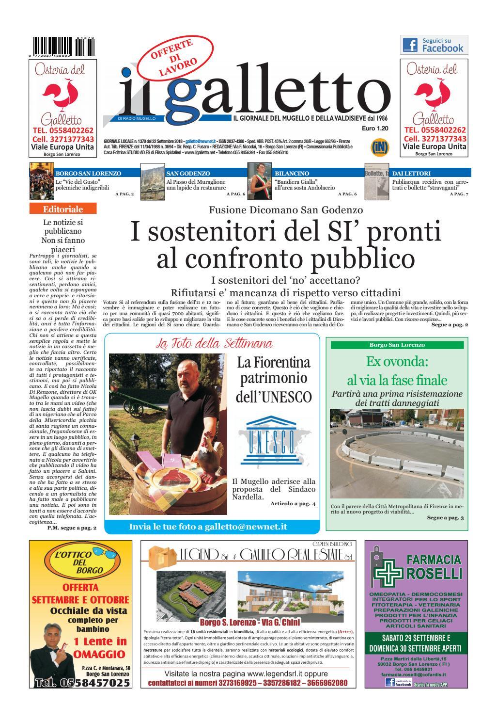 galletto 1370 del 22 settembre 2018 by Il Galletto Giornale - issuu 5448f2ced9