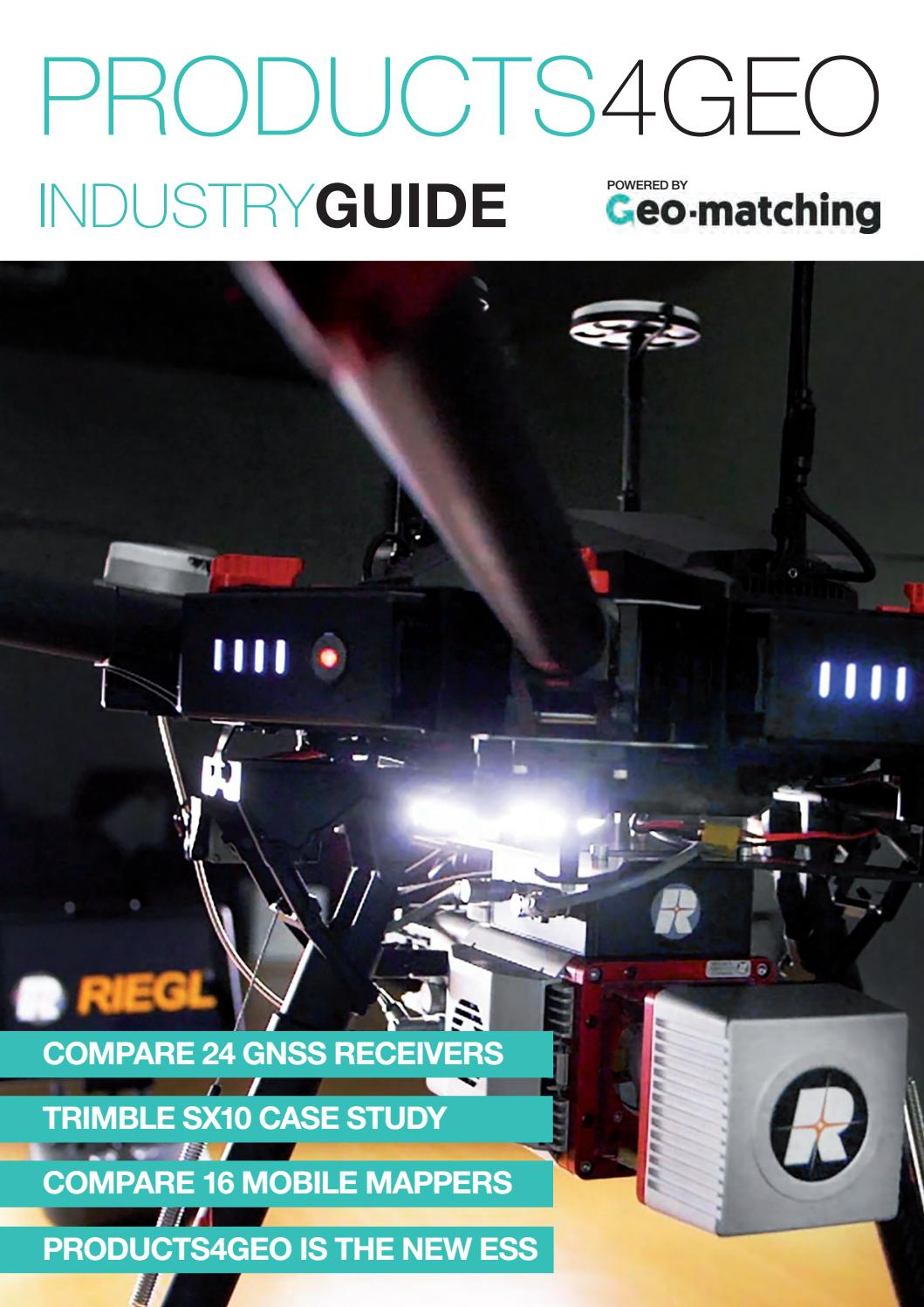 Products4geo 2018 issue one by Geomares Publishing - issuu