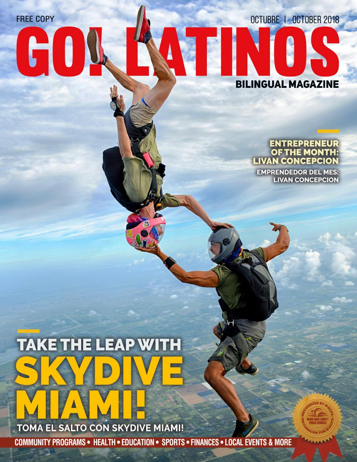 GO Latinos Magazine - October 2018 | Take the Leap with