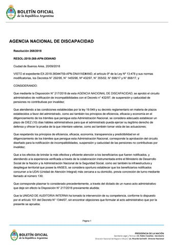 Resolución 268/2018 by HABLEMOS DE AUTISMO - issuu