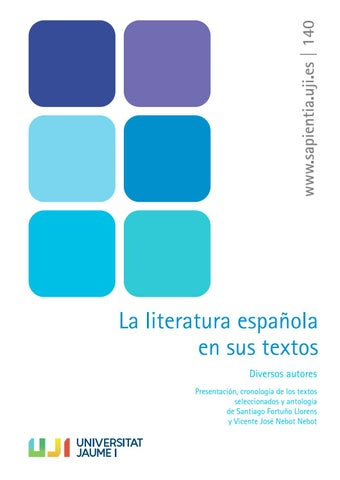 62e81cbe10f La literatura española en sus textos by Universitat Jaume I - issuu