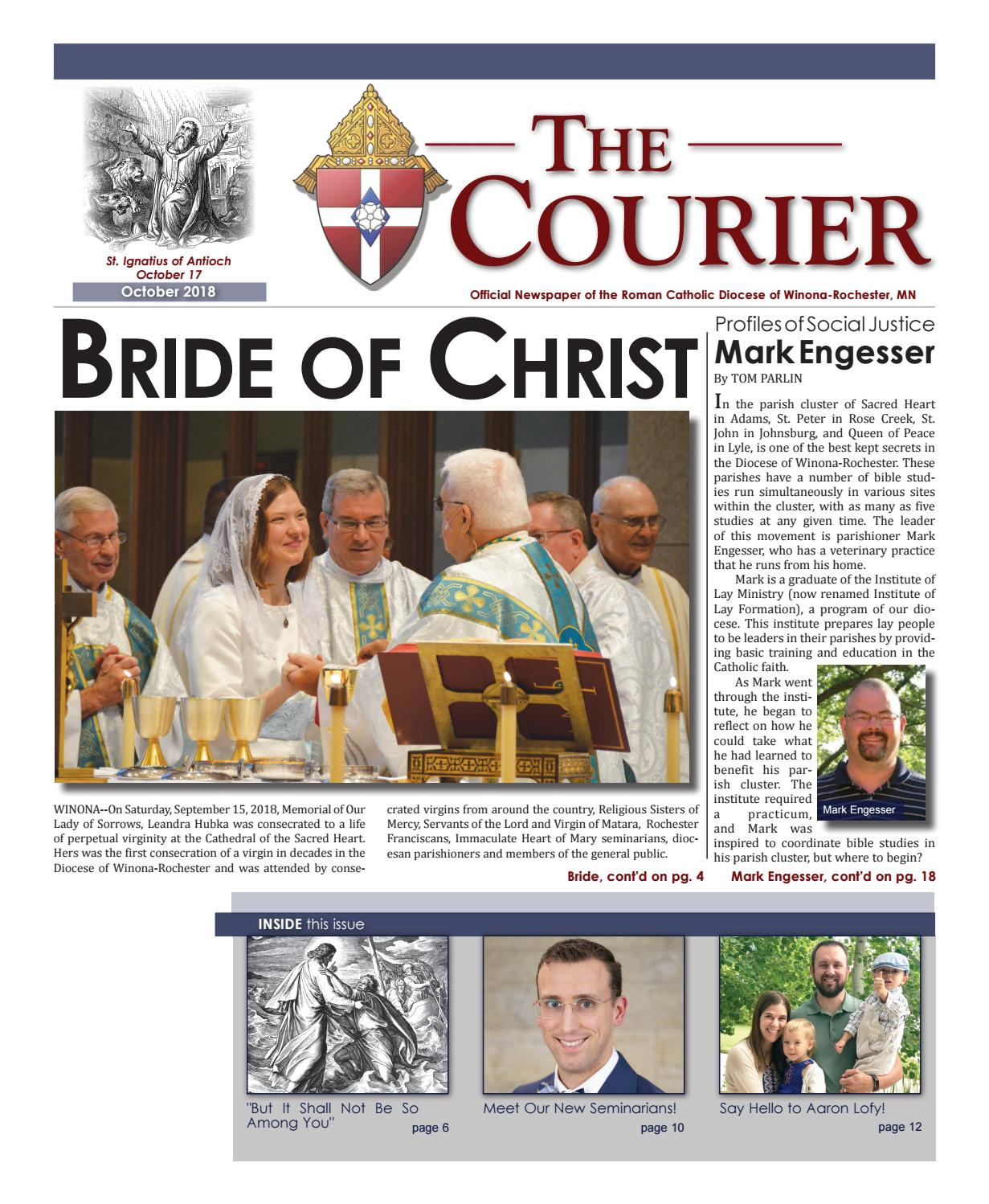 The Courier - October 2018 by Diocese of Winona-Rochester