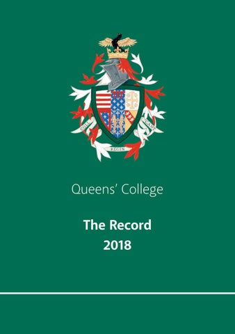 705004b079aad The Record 2018 by Queens' College - issuu