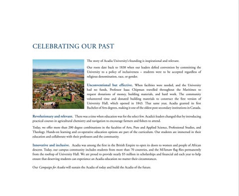 Page 6 of Celebrating Acadia's Past