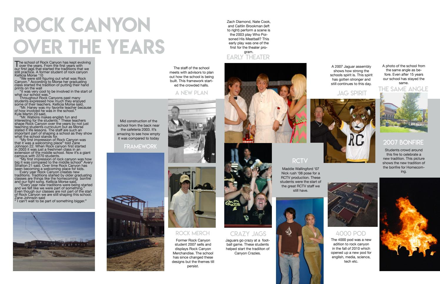Rock Canyon Over The Years & Social Seniors by Rock Media - issuu